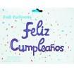 Letras Feliz cumpleaños  Azul Corrido