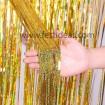 Cortina Decorativa Foil Dorado